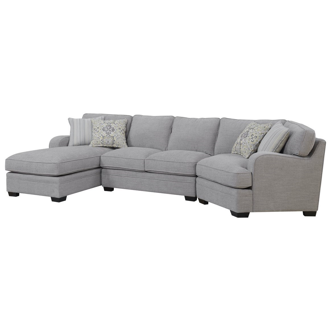 Analiese Sectional Sofa with Chaise by Emerald at Northeast Factory Direct
