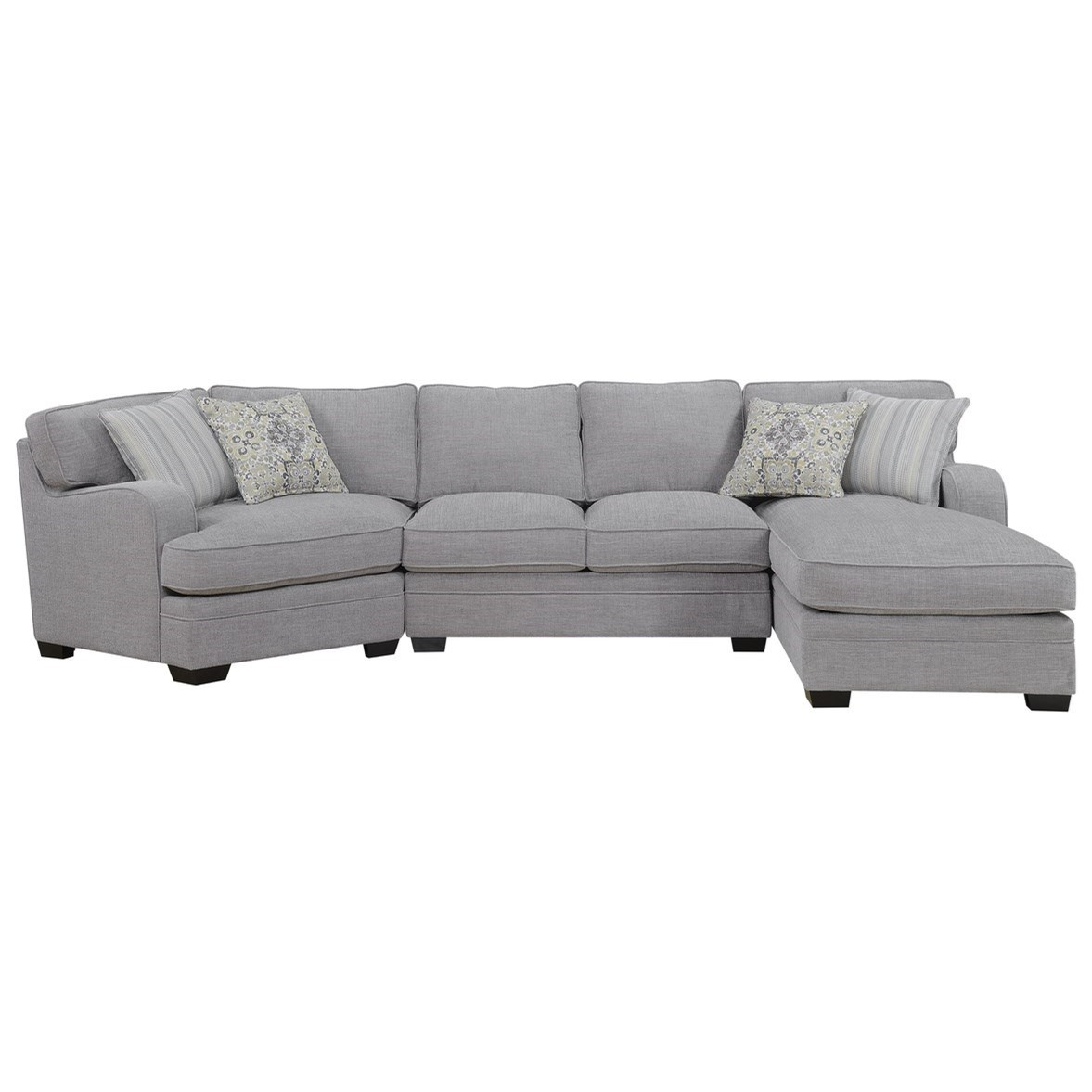 Analiese Sectional Sofa with Chaise by Emerald at Suburban Furniture