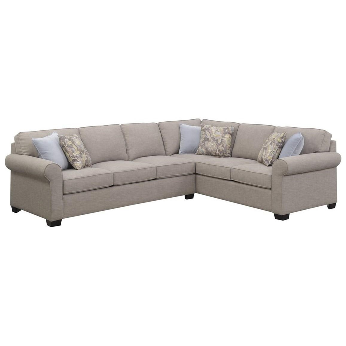 Angelica Sectional Queen Sleeper Sofa by Emerald at Northeast Factory Direct