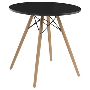 Round Table with Beech Wood Legs
