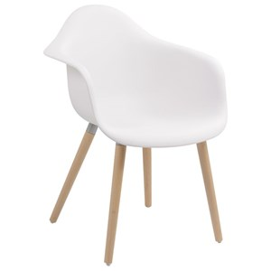 Dining Bucket Chair with Beech Wood Legs