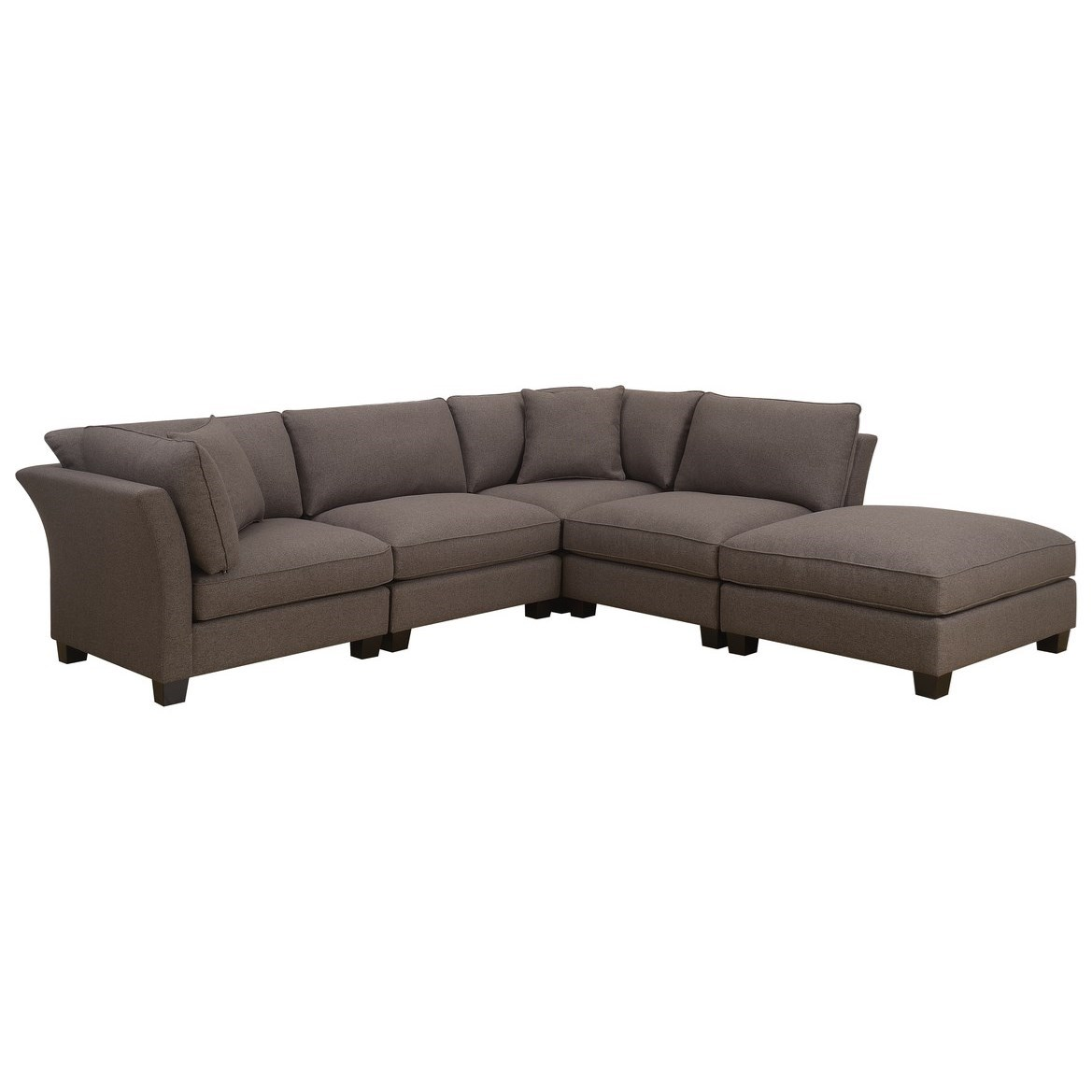 Arlington 5-Piece Sectional with Ottoman by Emerald at Northeast Factory Direct