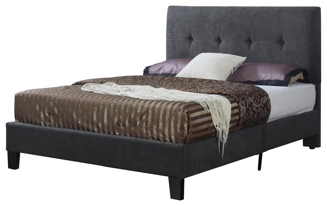 Harper Queen Upholstered Bed by Emerald at Rife's Home Furniture