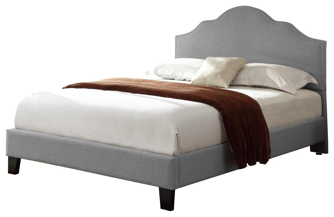 Madison Queen Upholstered Bed by Emerald at Rife's Home Furniture