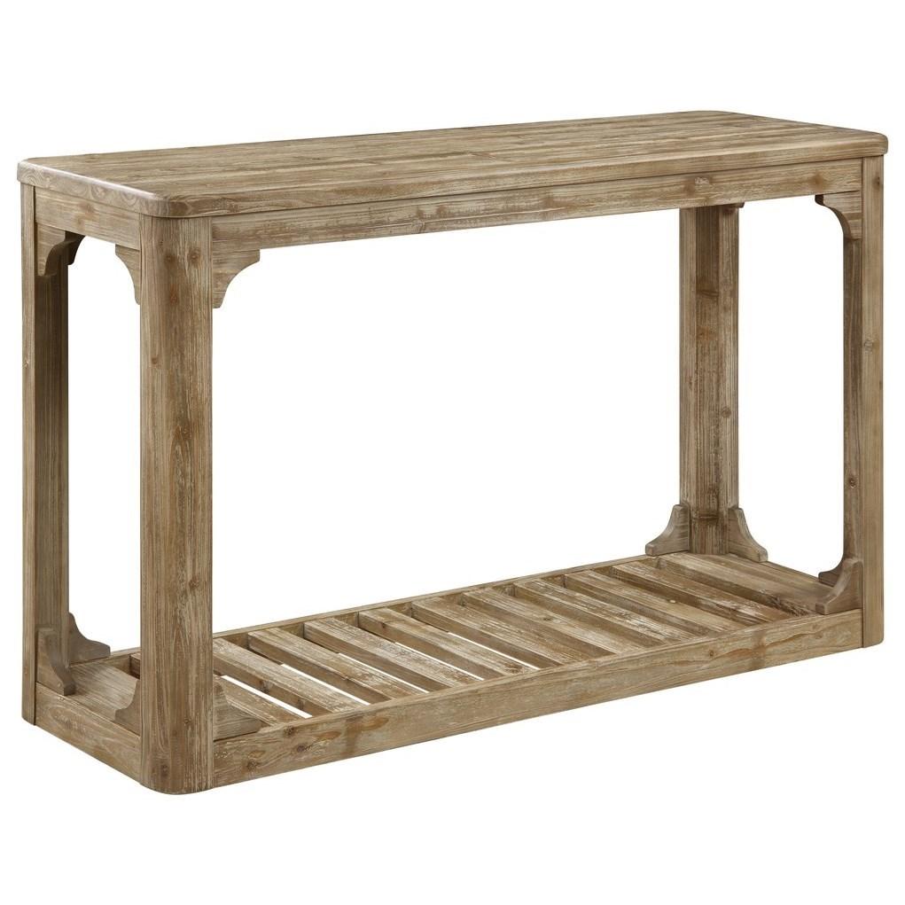 Barnwood Sofa Table W/Bottom Slat Shelf by Emerald at Northeast Factory Direct