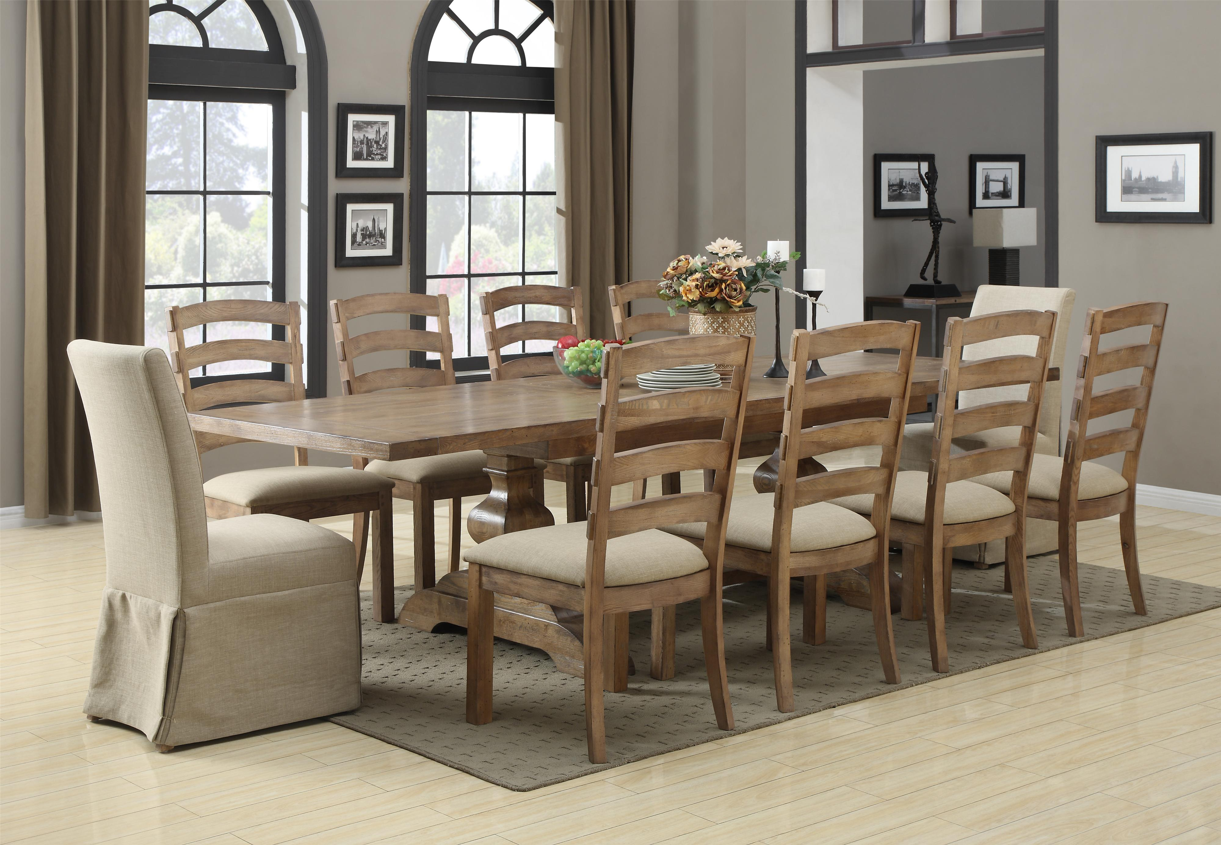 Belair 11 Piece Table & Chair Set by Emerald at Northeast Factory Direct