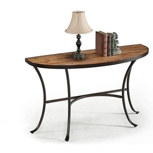 Sofa Table with Rustic Brown Finish