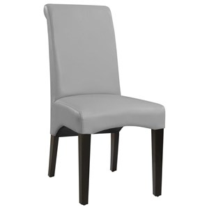 Upholstered Faux Leather Dining Chair