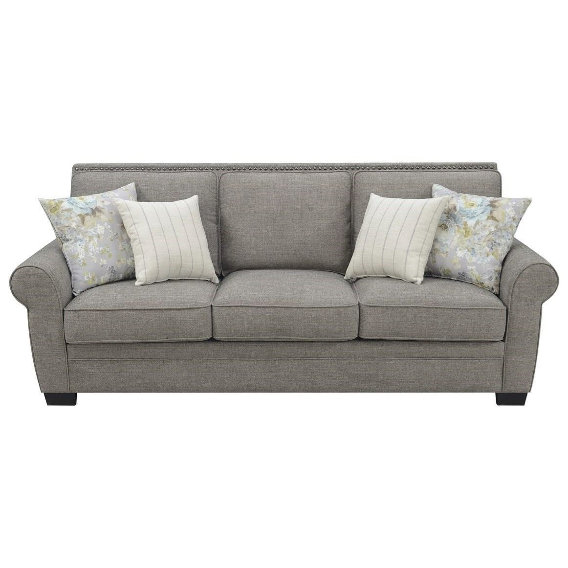 Brookemonte Sofa W/4 Accent Pillows by Emerald at Northeast Factory Direct