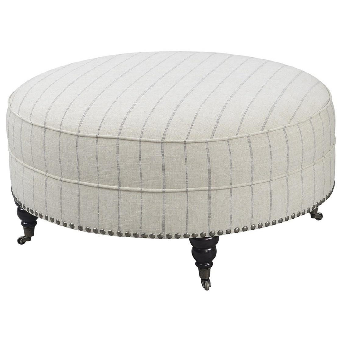 Brookemonte Round Cocktail Ottoman by Emerald at Northeast Factory Direct