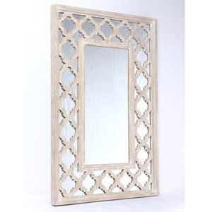 Vintage Accent Mirror with Mirror Glass Frame