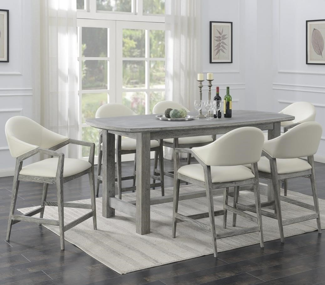Carrera 7-Piece Counter Height Dining Set by Emerald at Northeast Factory Direct