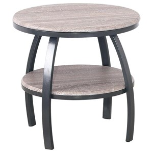 Contemporary 23.5'' Round End Table