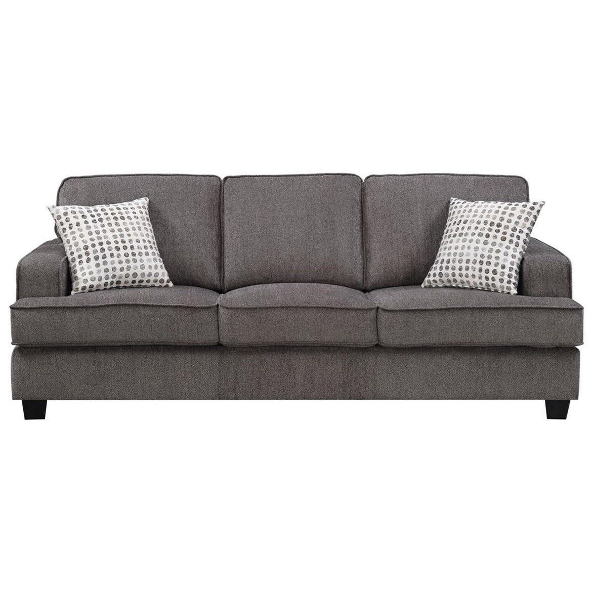 Carter Sofa W/2 Accent Pillows by Emerald at Northeast Factory Direct