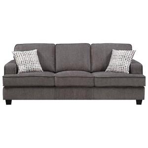Contemporary Sofa with Pillows