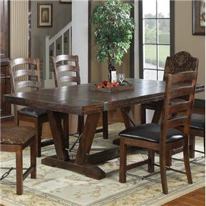Dining Table w/ Trestle Base