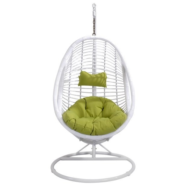 Catalina Outdoor Wicker Hanging Basket Chair by Emerald at Northeast Factory Direct