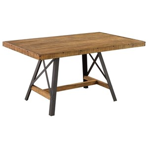 Rectangular Dining Table with Trestle Base