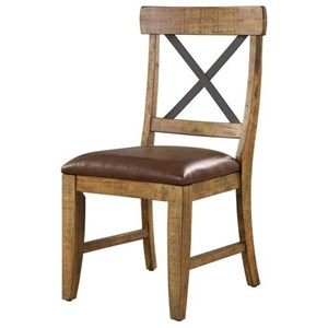 X-Back Upholstered Side Chair