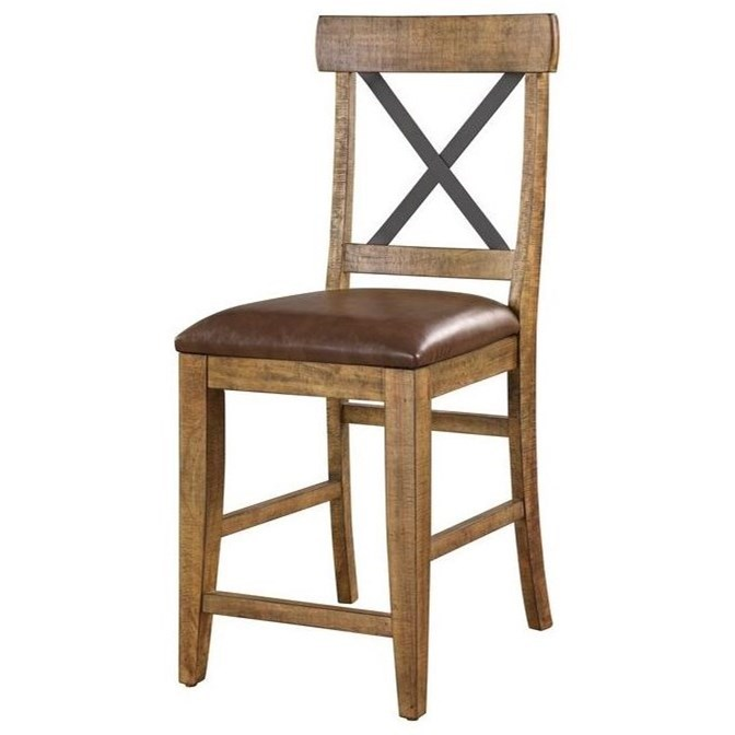 Chandler X-Back Upholstered Barstool by Emerald at Northeast Factory Direct
