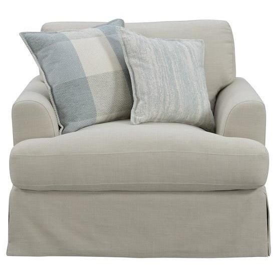 Charlotte Chair W/2 Accent Pillows-Tan #Hrw1651-5 by Emerald at Northeast Factory Direct
