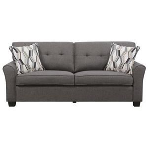 Transitional Sofa with Tufted Back and 2 Accent Pillows