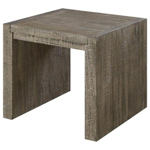 Contemporary Rustic Square End Table