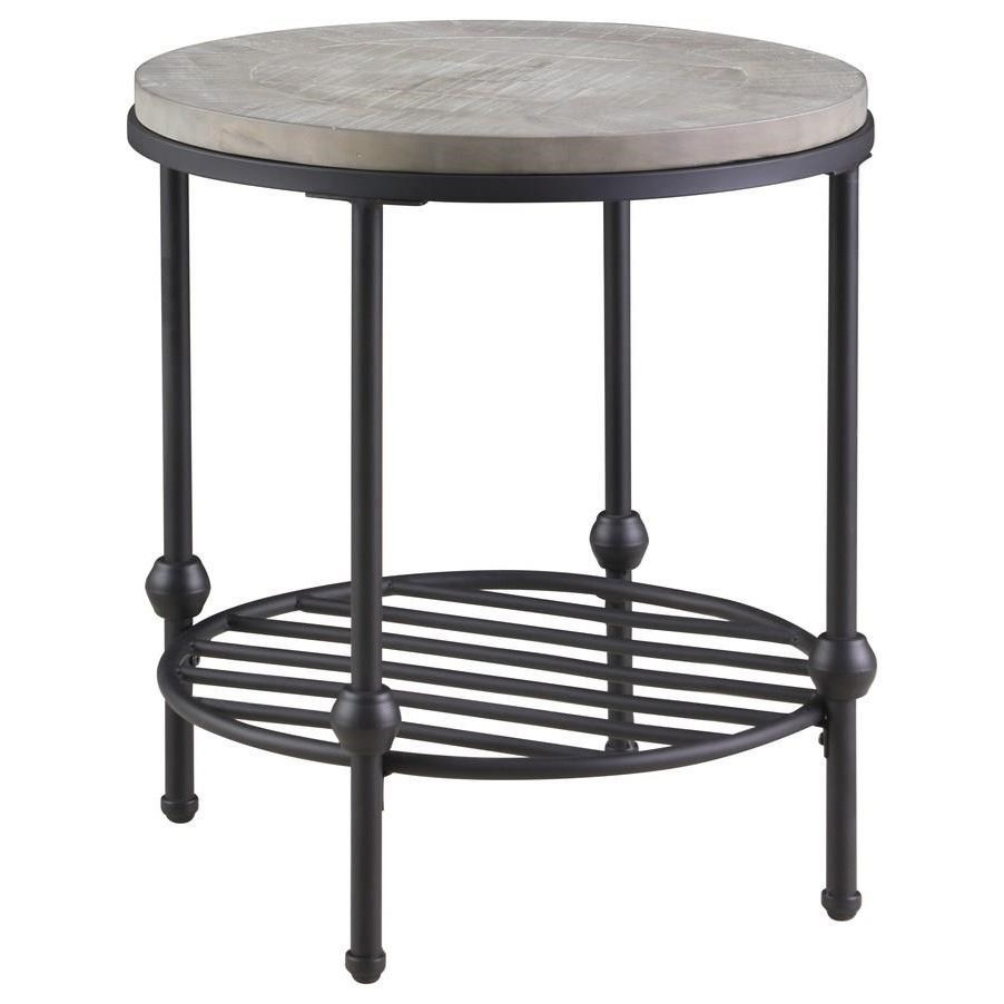 """Cutter End Table 22"""" Round by Emerald at Northeast Factory Direct"""