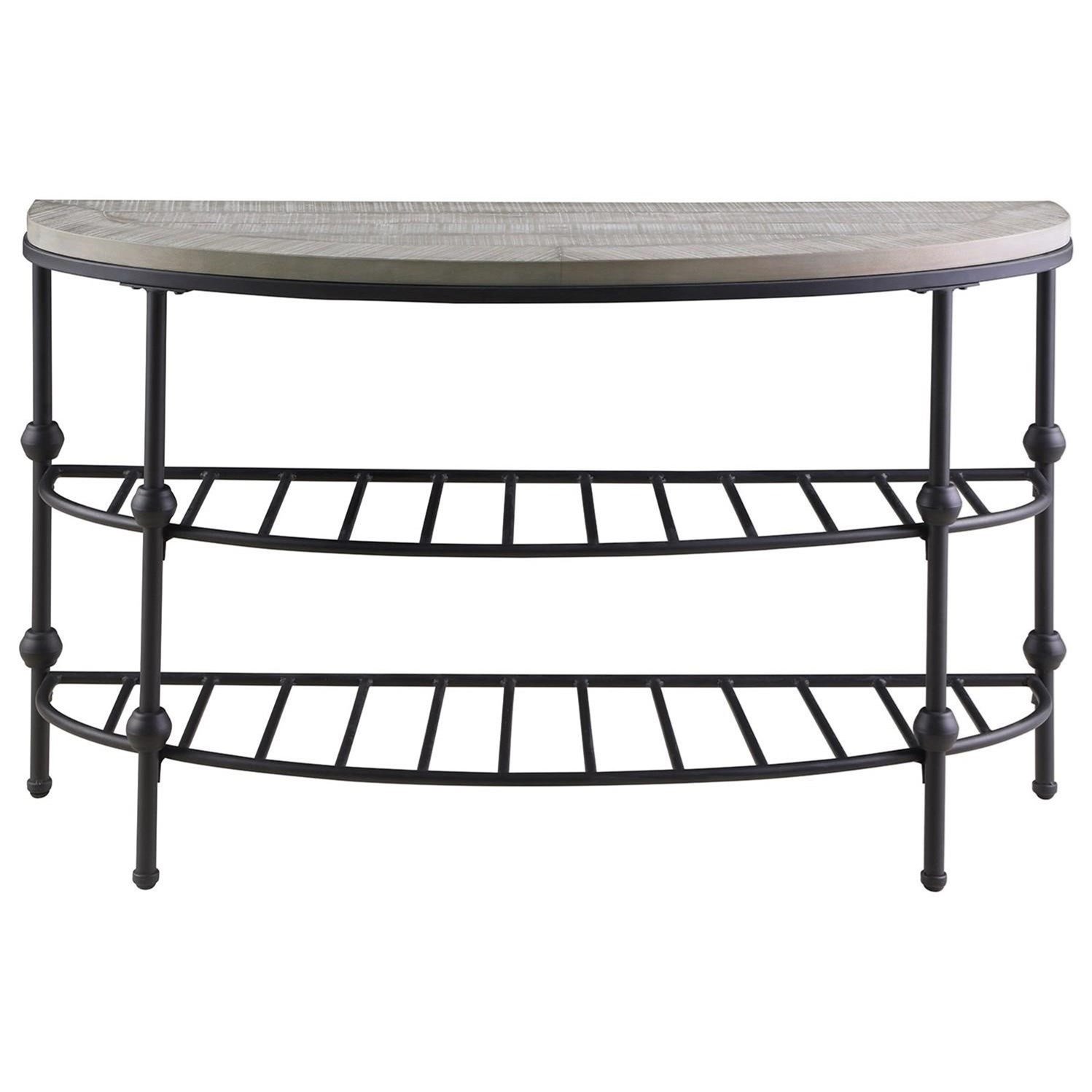 Cutter Sofa Table Half Moon by Emerald at Northeast Factory Direct