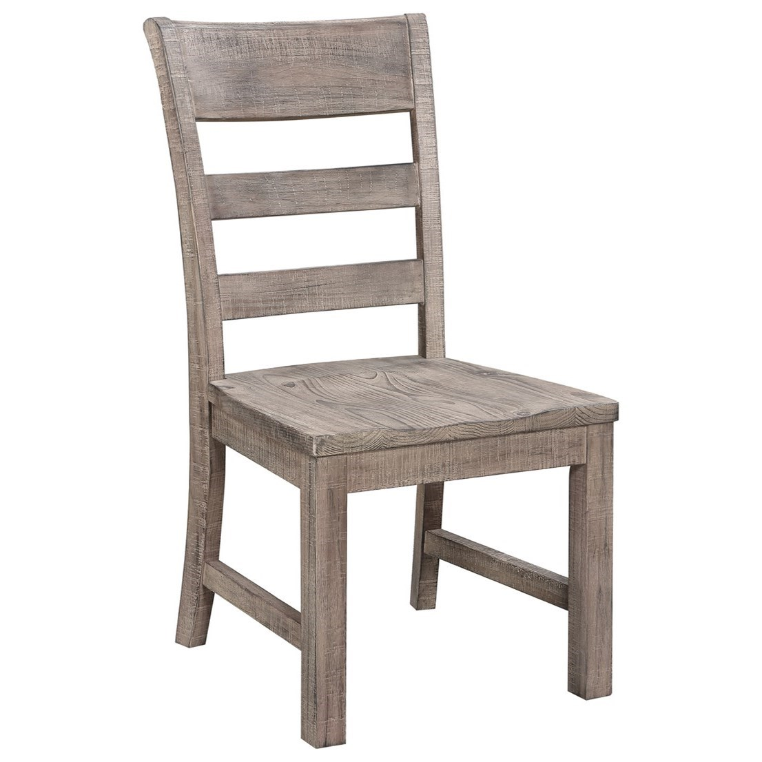 Slat Back Side Chair with Wood Seat