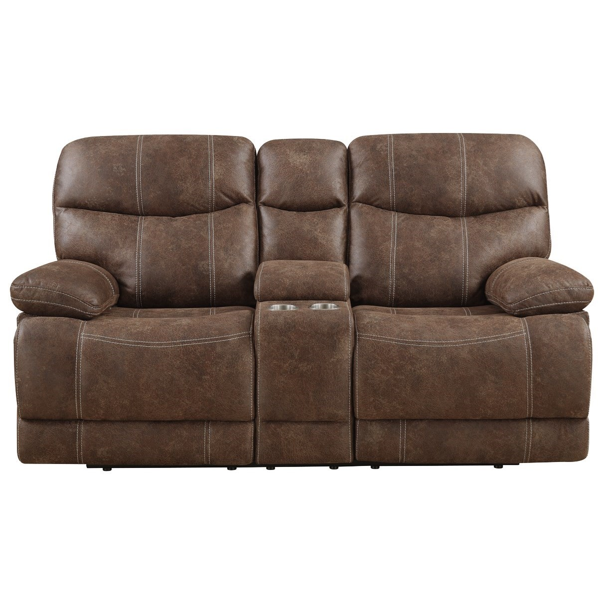Earl Motion Loveseat with Console by Emerald at Northeast Factory Direct