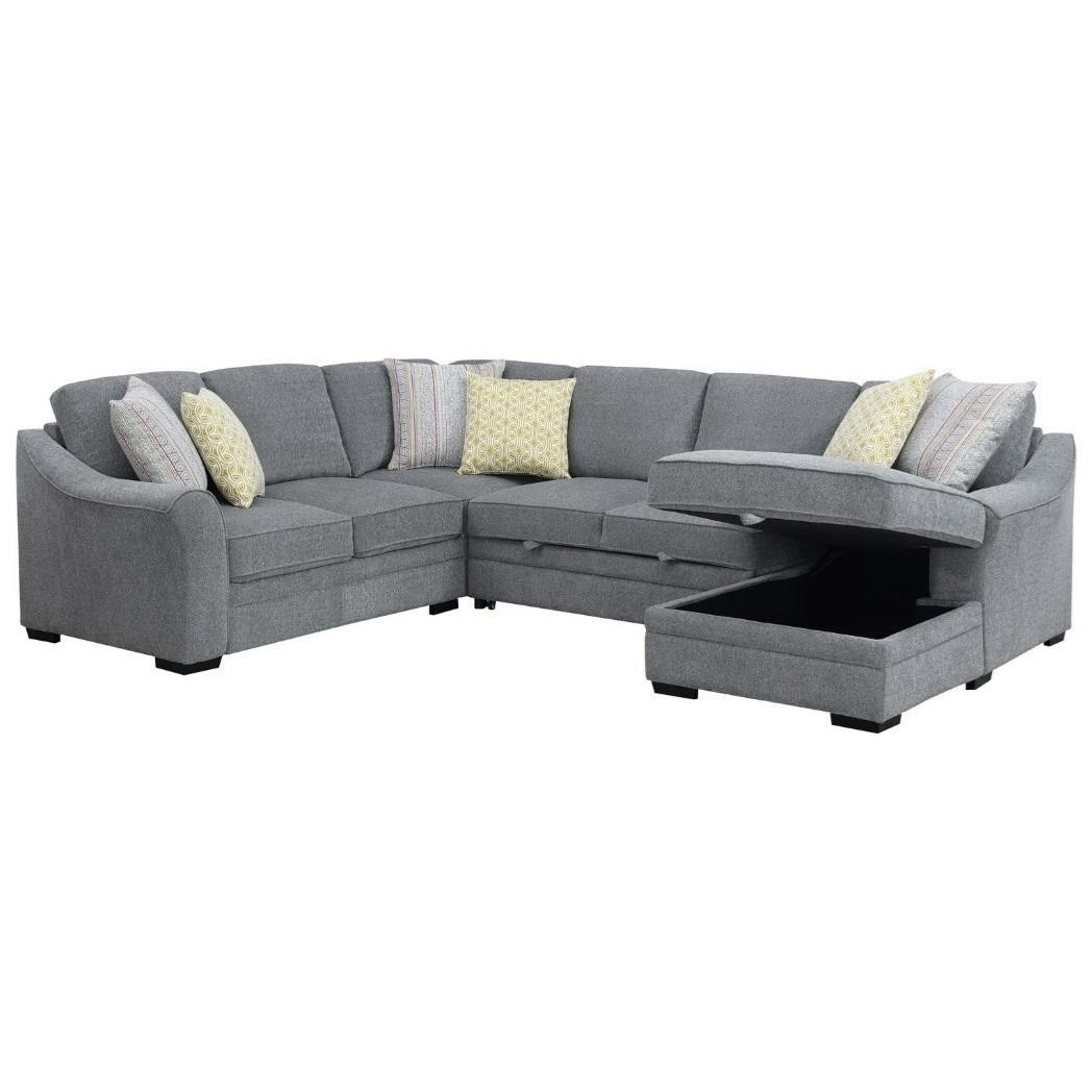 Elle 3-Piece Sleeper Sectional by Emerald at Miller Waldrop Furniture and Decor