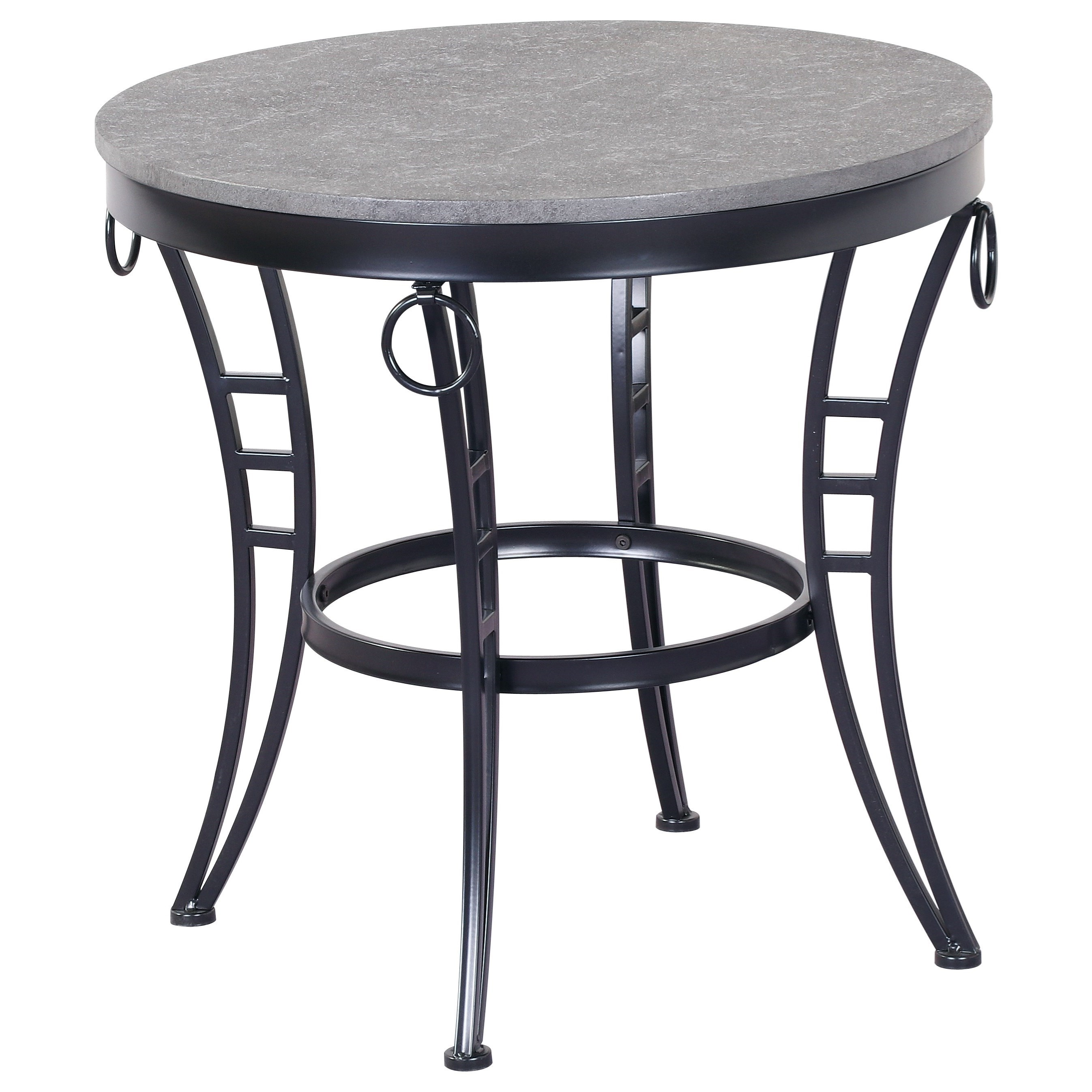Emmerson 23.5'' Round End Table by Emerald at Rife's Home Furniture