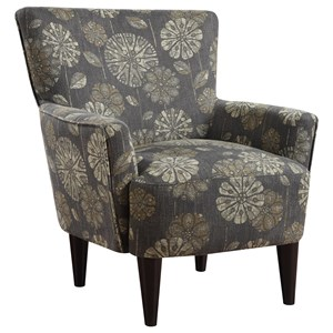 Contemporary Accent Chair with Exposed Wood Legs