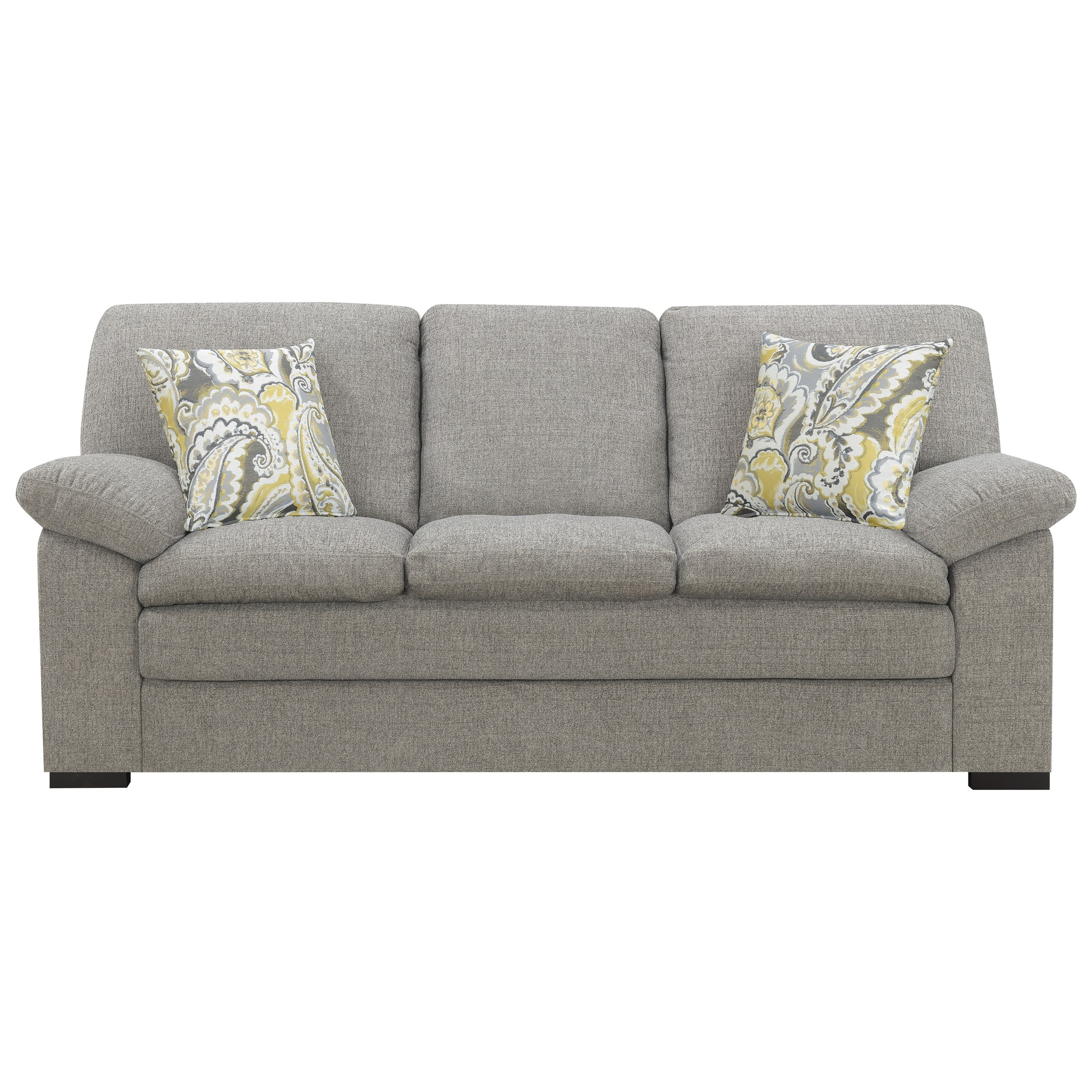 Grandview Sofa with 2 Accent Pillows by Emerald at Northeast Factory Direct