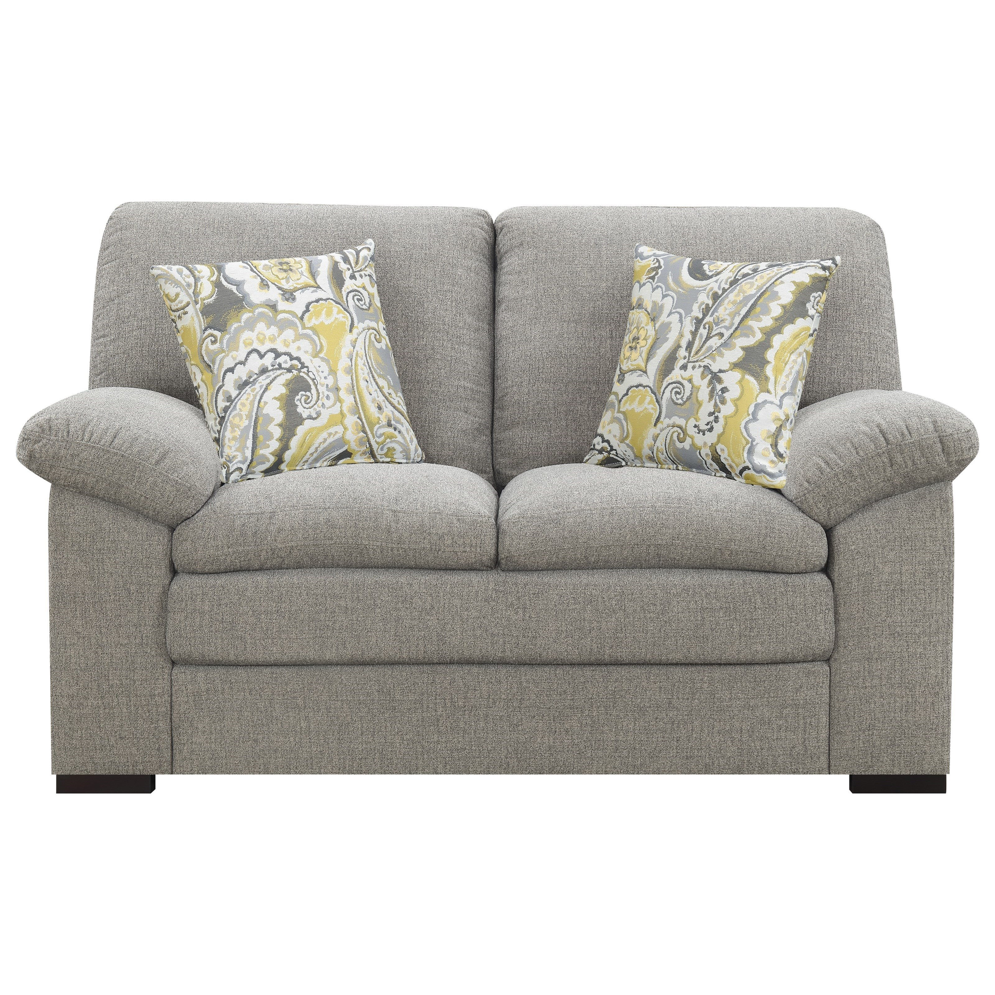 Grandview Loveseat with 2 Accent Pillows at Sadler's Home Furnishings