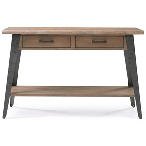 Rustic Sofa Table with Metal Legs