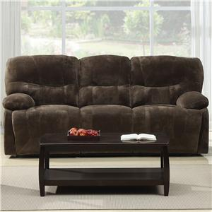 Casual Sofa with Pillow Arms and Power Recline