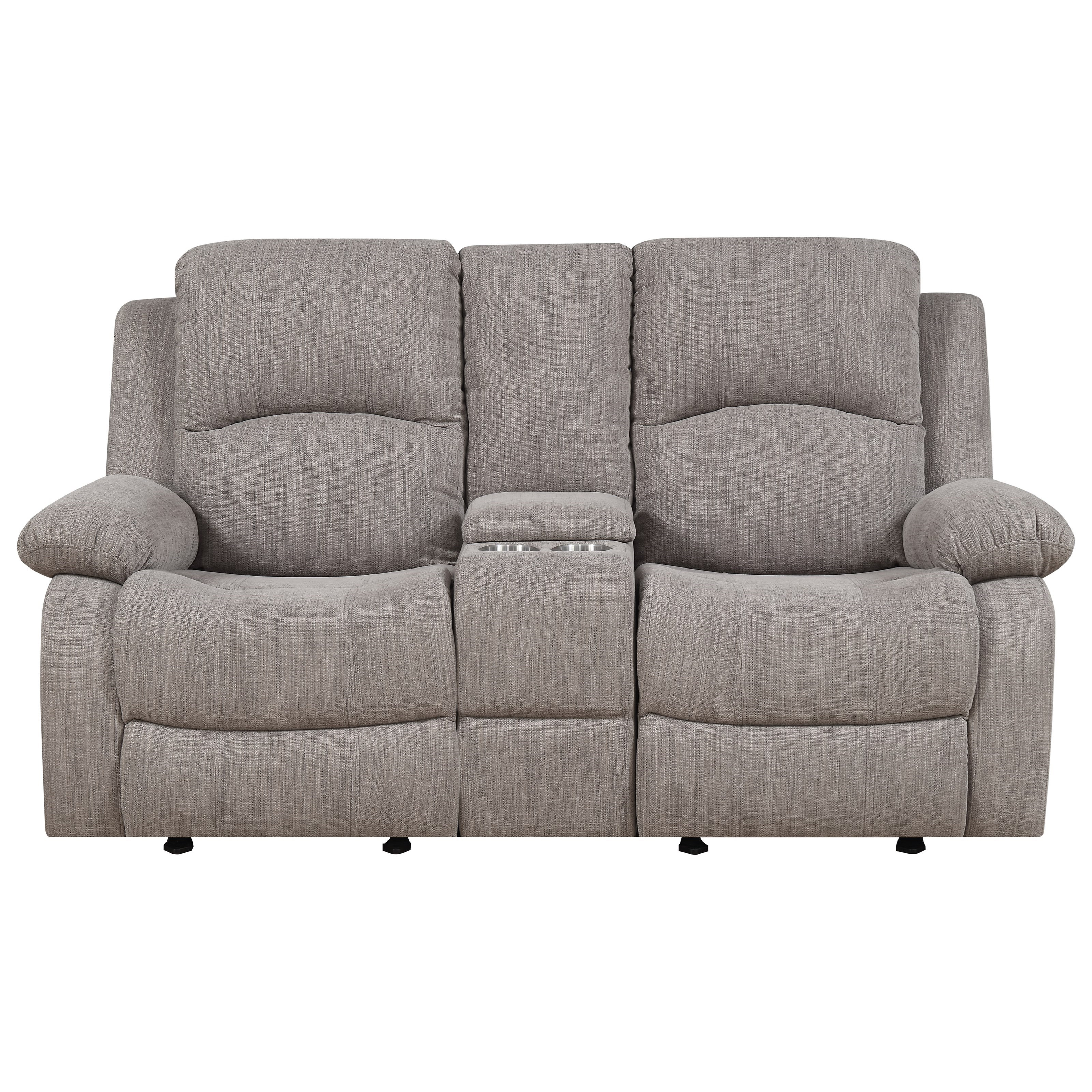 Hennessey Reclining Glider Console Loveseat by Emerald at Suburban Furniture