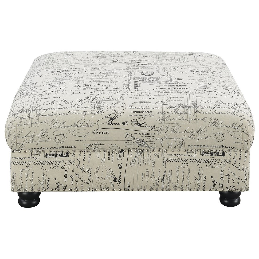 Hutton II Cocktail Ottoman by Emerald at Northeast Factory Direct