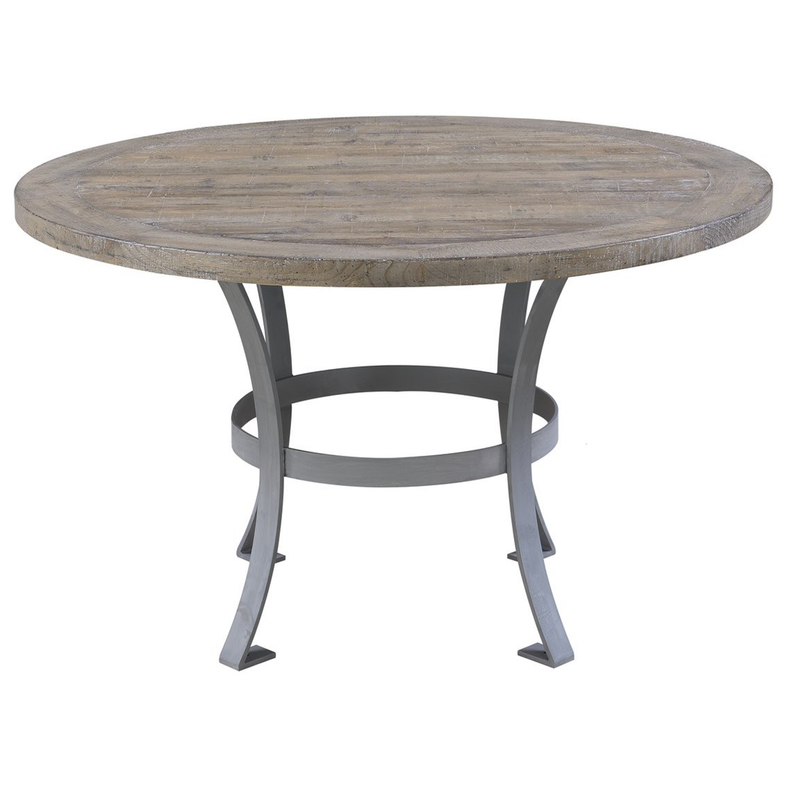 Interlude Round Dining Table with Metal Base by Emerald at Suburban Furniture