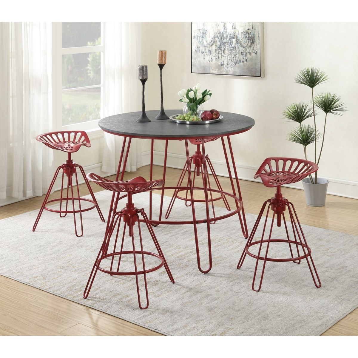 Langston 5-Piece Pub Table Set by Emerald at Northeast Factory Direct