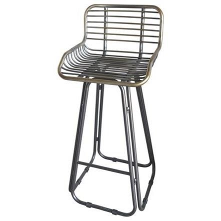 Laurell Hill 30'' Barstool by Emerald at Suburban Furniture