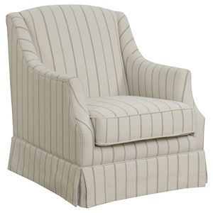 Contemporary Upholstered Swivel Glider Chair