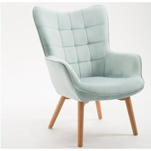 Mid-Century Modern Accent Chair with Quilt Tufted Back