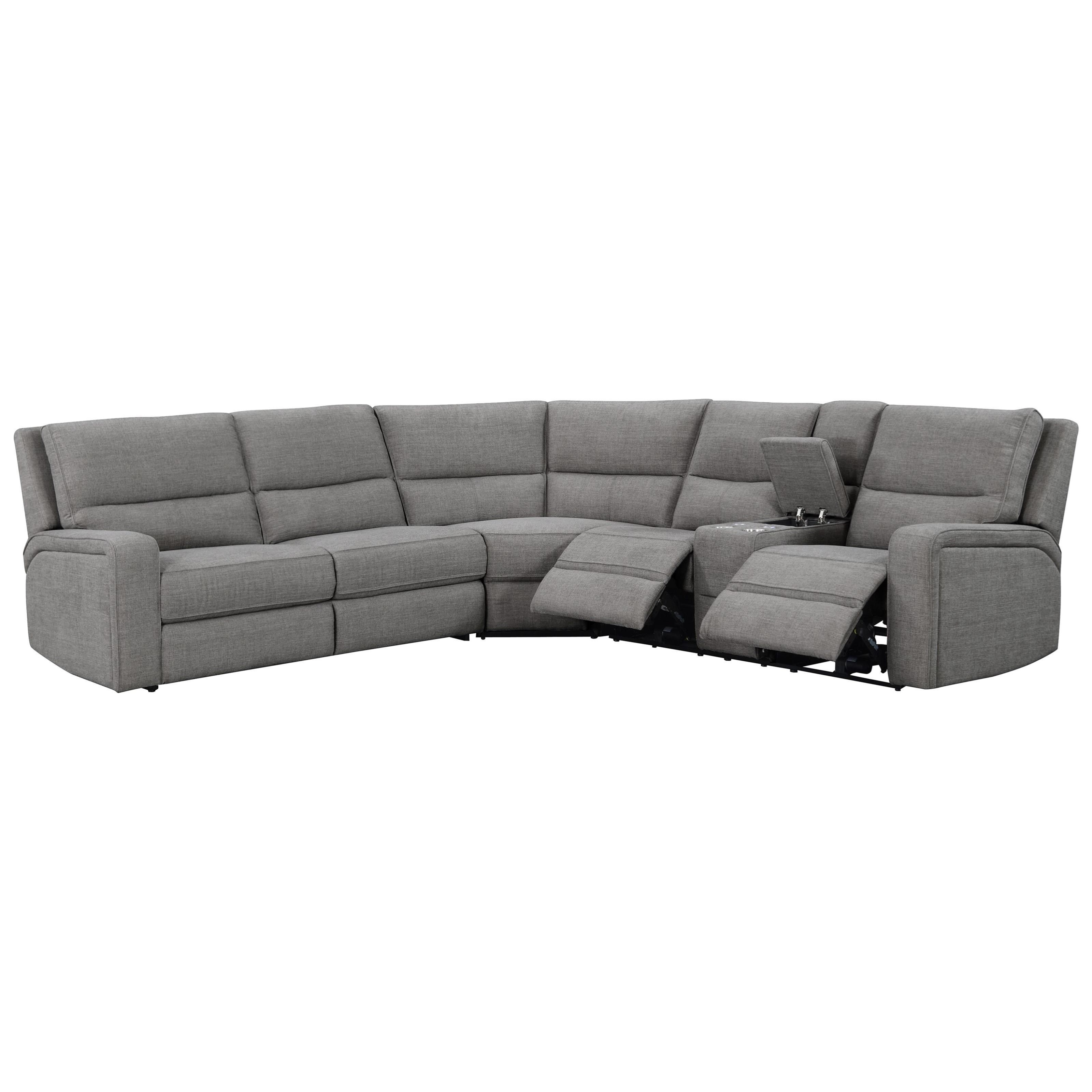 Medford 3-Piece Power Reclining Sectional by Emerald at Northeast Factory Direct