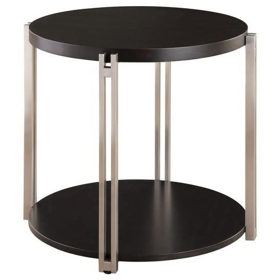 Merlot Round End Table by Emerald at Northeast Factory Direct