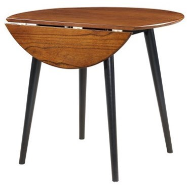 Midland Round Drop Leaf Table by Emerald at Northeast Factory Direct