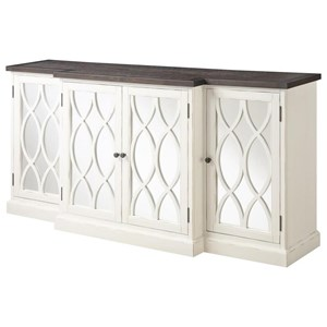 """78"""" Buffect Storage Cabinet with Mirrored Accents"""