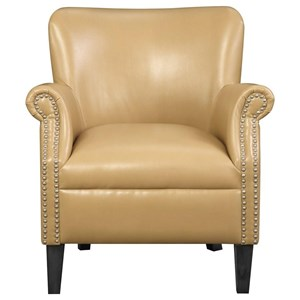 Transitional Accent Chair with Nailhead Trim